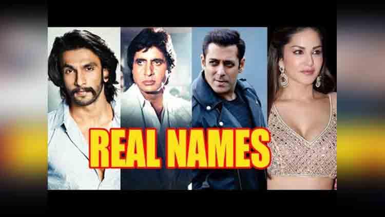 Real names of bollywood stars