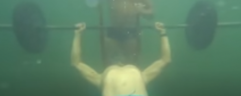 Most Bench Presses Underwater Guinness World Records