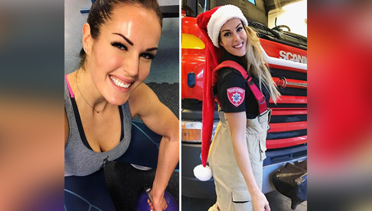 viral pictures of a firefighter girl