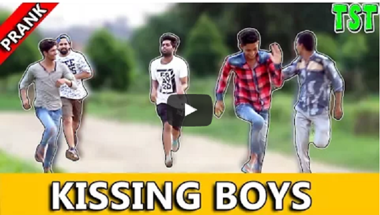 KISSING BOYS PRANK TST Prank in india