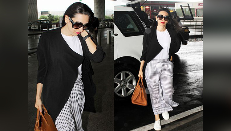 Karisma Kapoor's Airport Style Is High OnThe Fashion Level