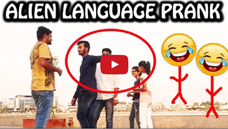 Alien Language Prank Pranks in India NatKhat Shady
