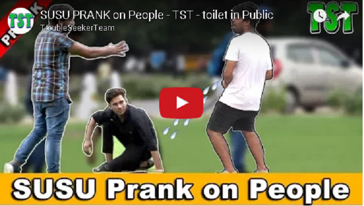SUSU PRANK on People TST toilet in Public