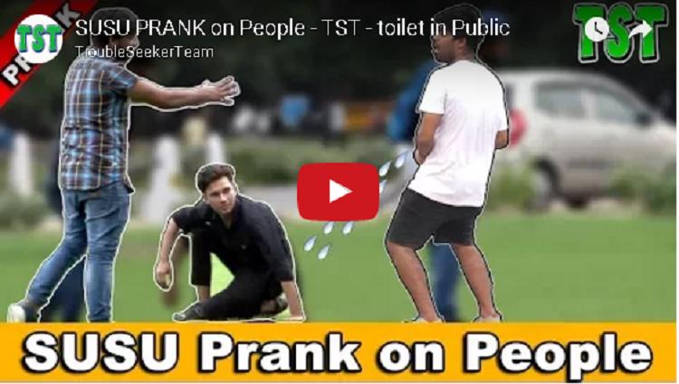 SUSU PRANK on People TST toilet in Public