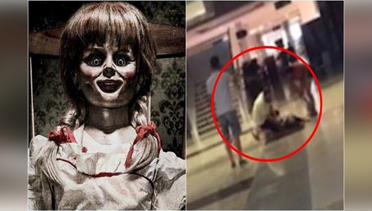 woman hysterical after watching annabelle: creation
