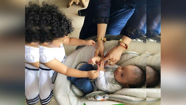 karan mehra-nisha rawal newborn baby celebrated rakhi