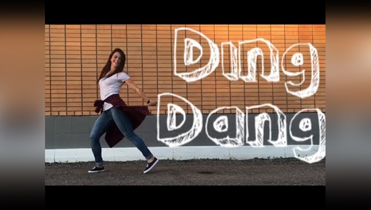 A Girls Attractive Dance On Peppy Number Ding Dong