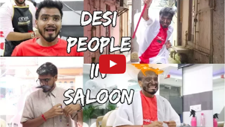 Desi People In Salon Amit Bhadana