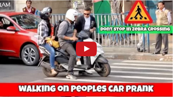 Zebra crossing prank video