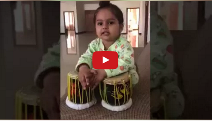 This Child Is Amazingly Playing The Tabla