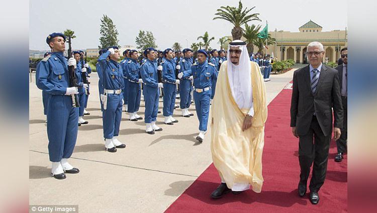 Saudi king sultan morocco holiday