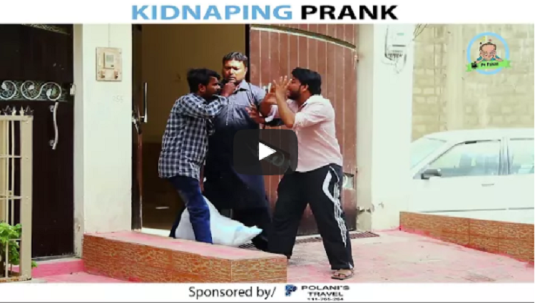 KIDNAPING PRANK By Nadir Ali Sanata In P4 Pakao 2017