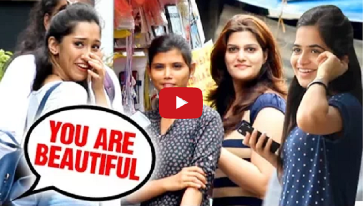 You are Beautiful Girls Unbelievable Reaction Prank in India Part 2