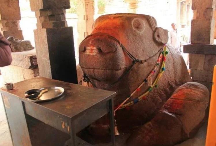 nandi statue yaganti uma maheswara temple andhra pradesh