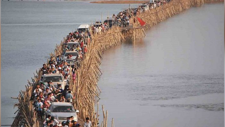 did you know about bamboo bridge in Cambodia