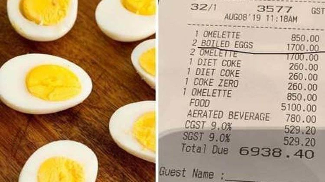 2 boiled eggs at Four Seasons Hotel Mumbai costs Rs 1700
