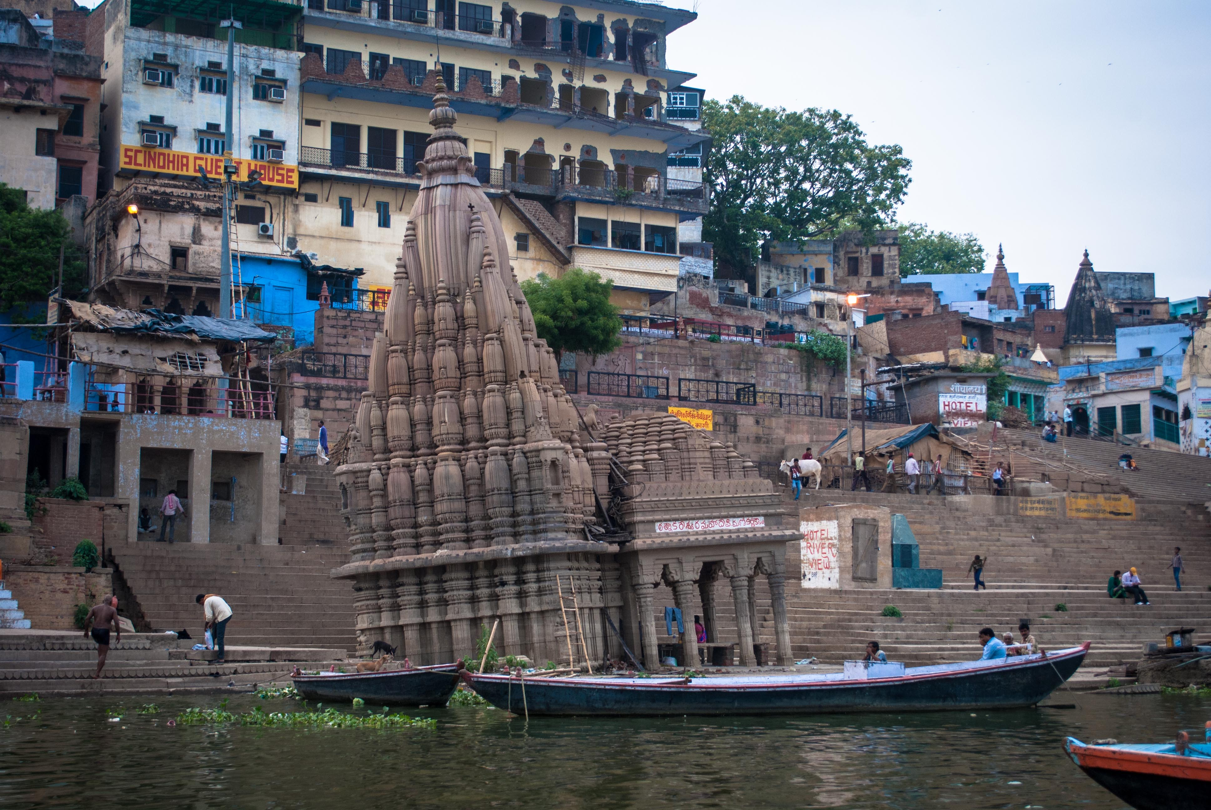 kashi scindia ghat ratneshwar temple