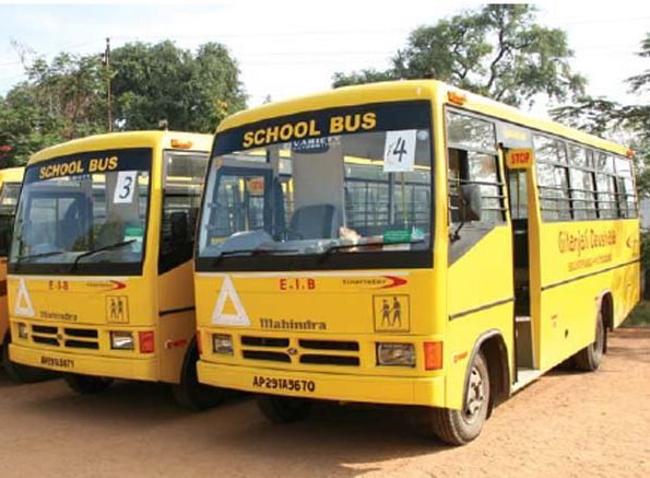 Why school buses are yellow in colour