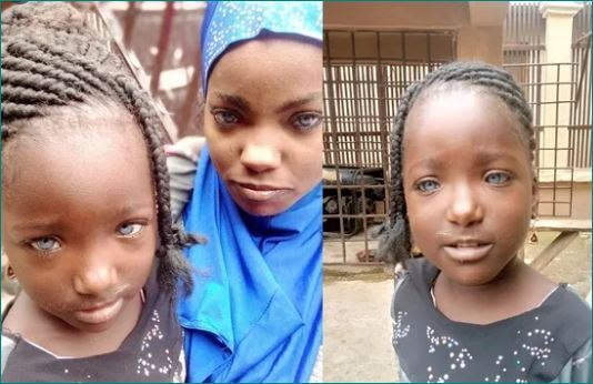 Omg News African Woman And Daughters Blue Eyes Husband Abandons Them