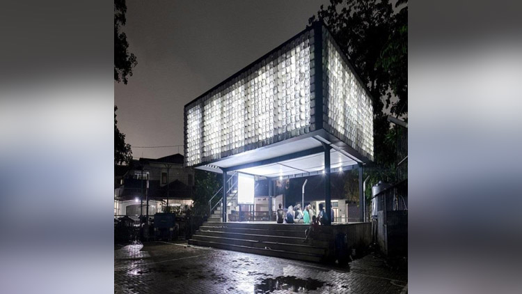 This Library In Indonesia Made With 2000 Recycled Ice Cream Cups