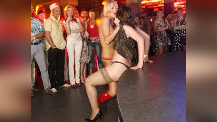 Miss Striptease competition photos gone viral