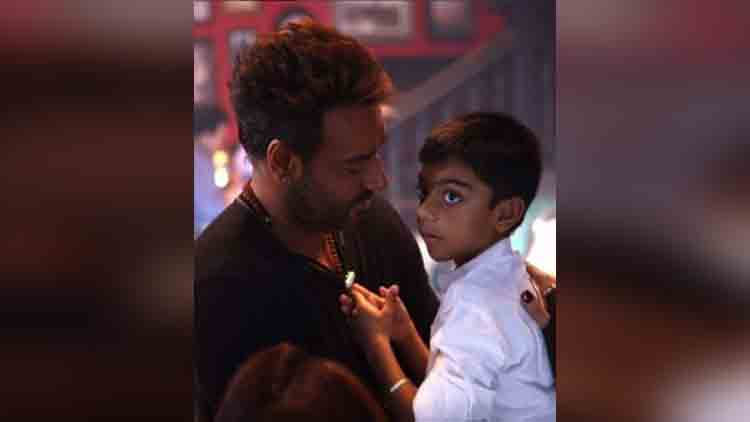 ajay devgns photo with his son yug