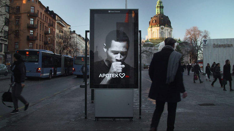 a billboard has a unique idea of making people quit smoking