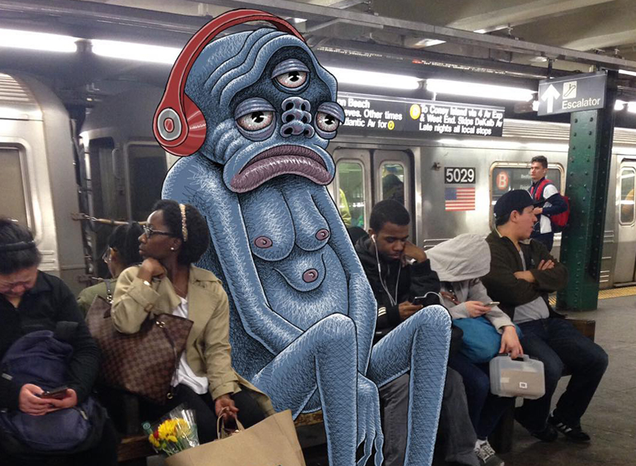 when such monsters come in the subway