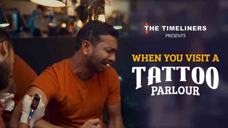 When you visit a tattoo parlour