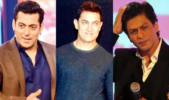 bollywood actresses worked with three khans
