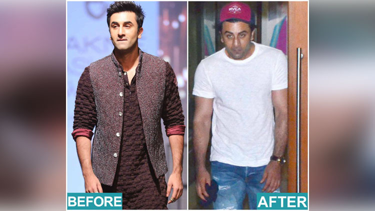 ranbir kapoor look for sanjay dutt biopic