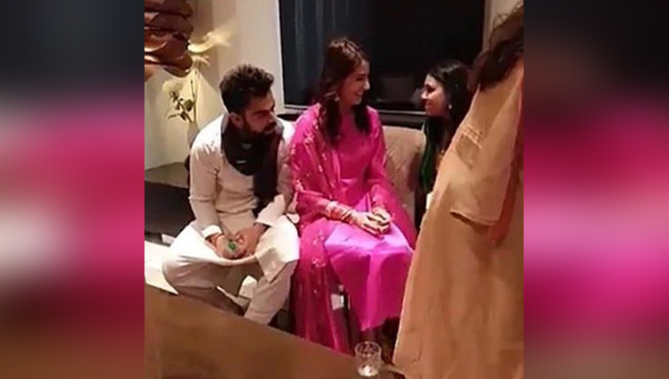anushka sharma and virat kohli reached delhi for their reception party