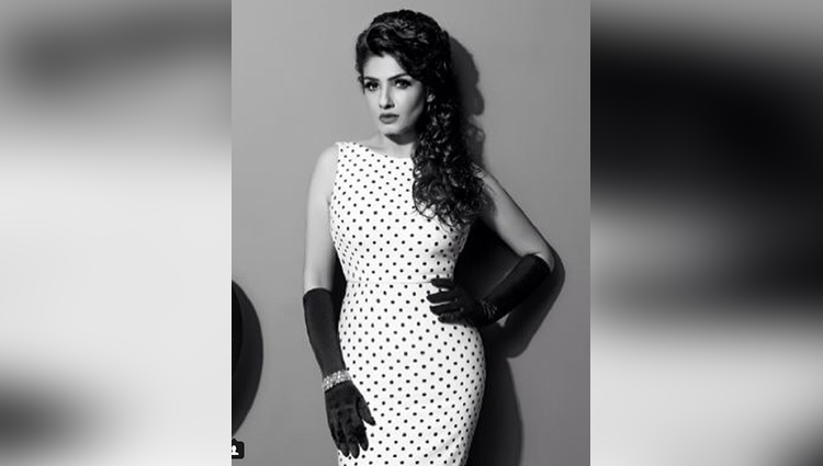 Raveena Tandon share her sexy black dress photo