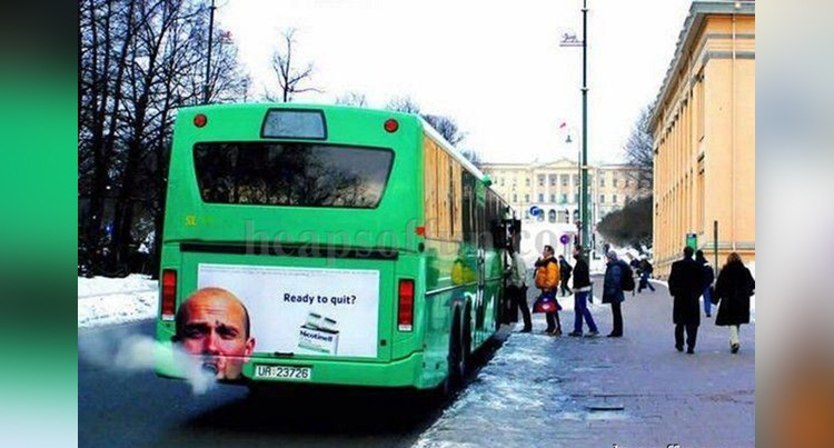 funny ad poster posted on buses photos goes viral