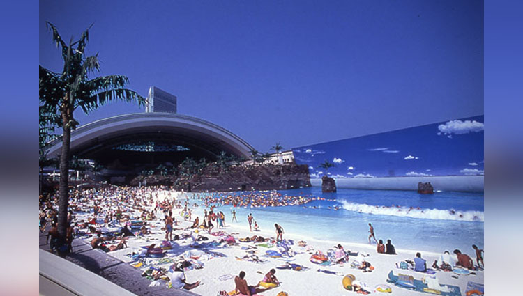 seagaia ocean dome an artificial beach in japan
