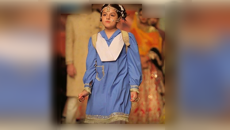 Pak Designer Makes A Child Bride Walk The Ramp In School Uniform