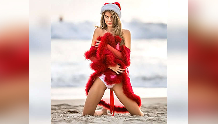 rachel mccord photoshoot based on christmas theme