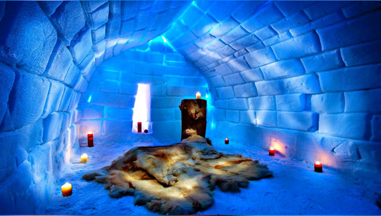 ice hotel where everything is so cool