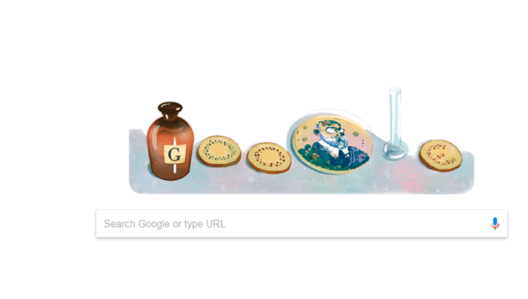 Google Doodle Celebrating Robert Koch Historical Nobel Prize Win
