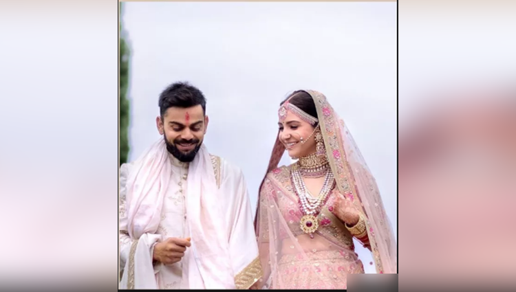 Hot Pink Her Favourite Sabyasachi On Virat Anushka Wedding