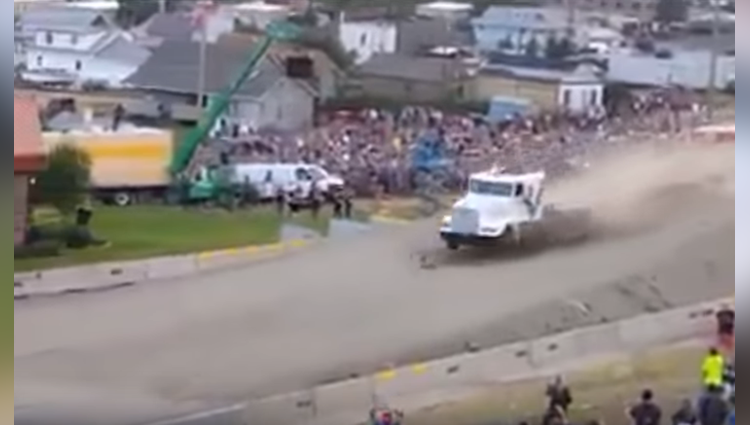 truck stunt by truck driver