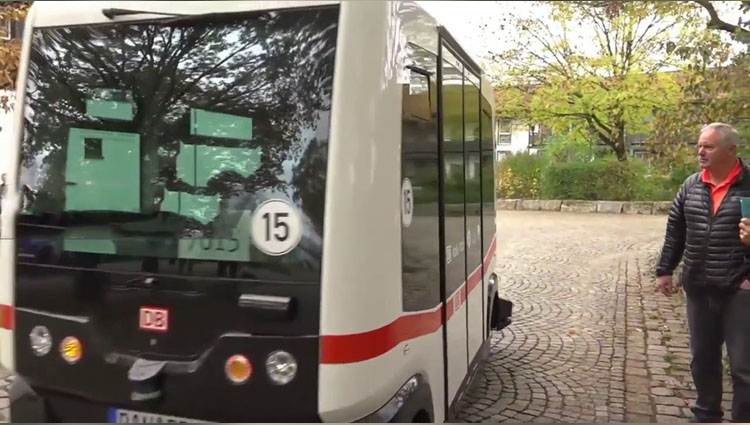 Germany's first driverless bus takes to the roads in Bavaria