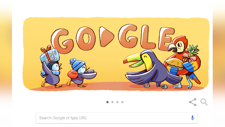 Google Doodle Celebrates December Global Festivities With Delightful Penguin, Parrot Family