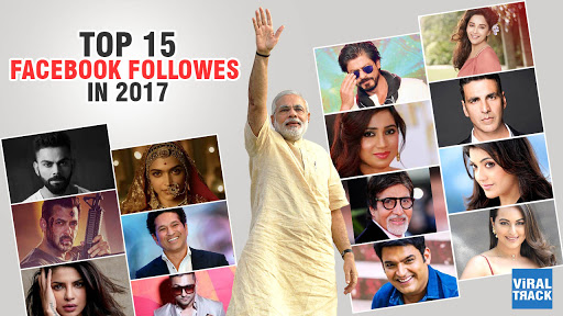 list of 15 most popular indians on facebook
