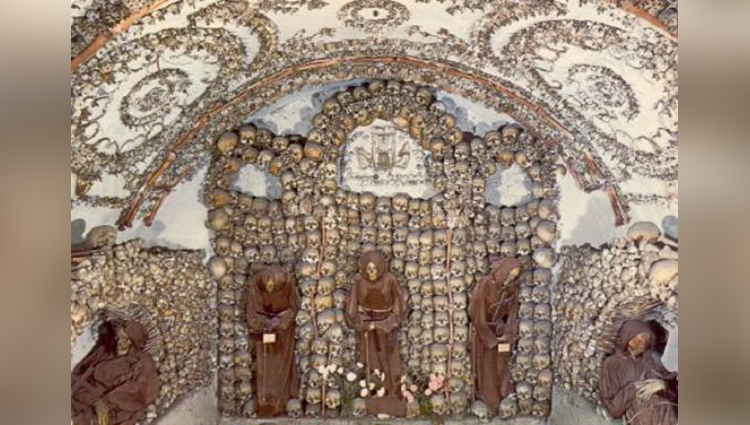 This church is made up of bones and skeleton see pics