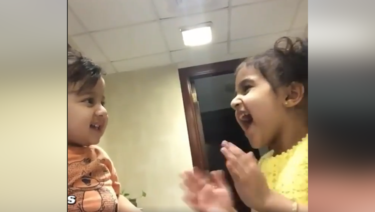 cuteness is overloaded in baby girl and boy poem johny johny yes papa