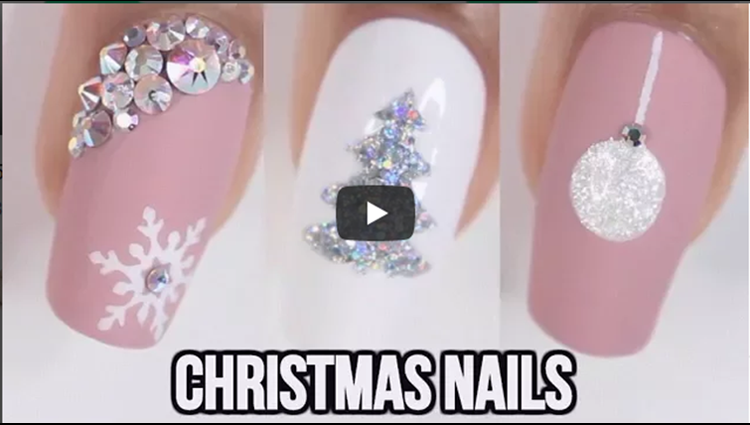 5 EASY CHRISTMAS NAIL IDEAS
