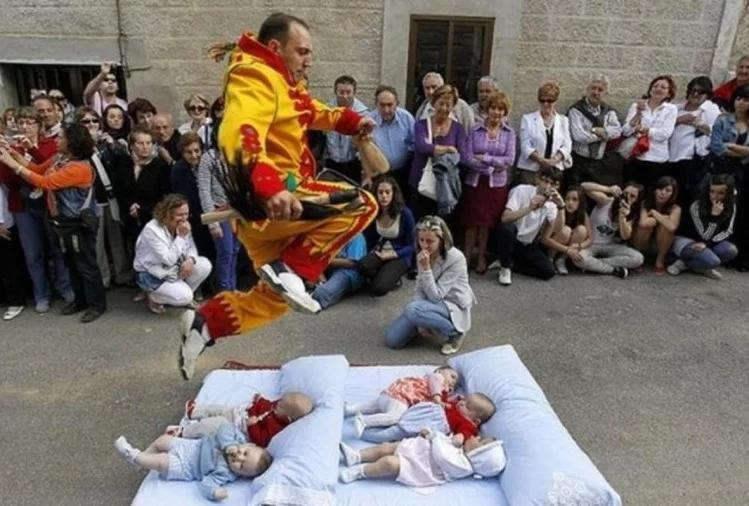 weird rituals of new born baby