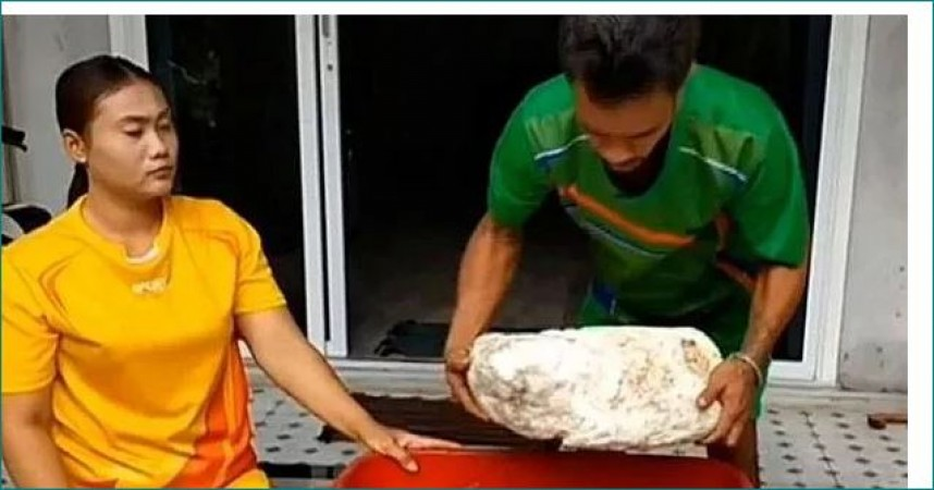 Couple On Romantic Stroll Found Whale Vomit Worth 5 crore