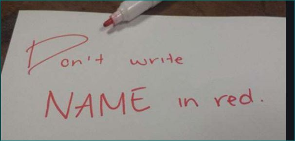 Writing Name With Red Ink Is Not Allowed In This Country